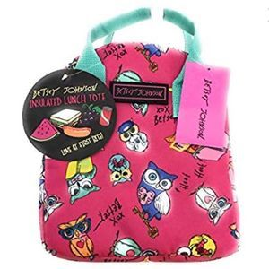 Betsey Johnson Smart Owls Insulated Lunch Tote